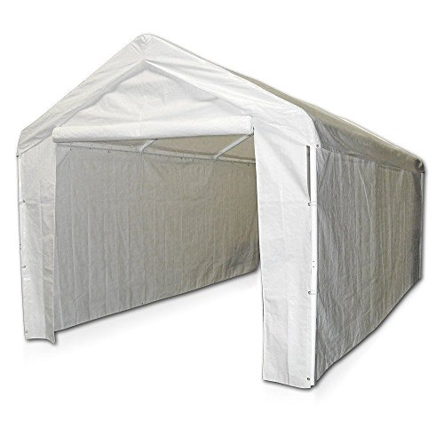 Domain Caravan Canopy 10' X 20' Carport Garage with Sidewall Enclosure Kit
