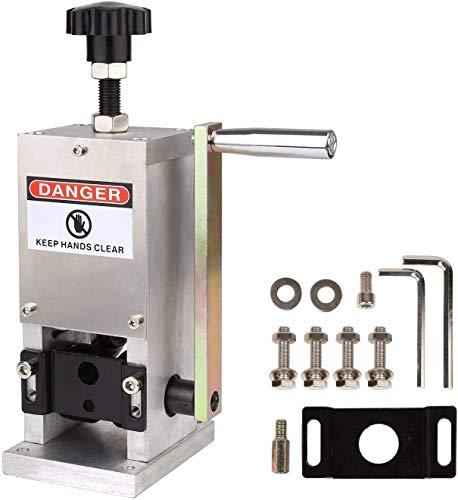 FIXKIT Kabelschälmaschine für 1.5-25 mm Kabel, Abisoliermaschine aus Aluminium und Legierungsstahl, handbetriebene Kabelabisoliermaschine, Kabelschäler 13*22.5*32 cm