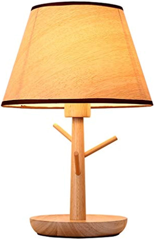 Tischlampe Massivholz Tischlampe Schlafzimmer Nachttischlampe Wohnzimmer Tischlampe Personalisierte Massivholz Hotel Tischlampe Studie Schreibtisch Schreibtischlampe (Farbe   30X30X47CM)
