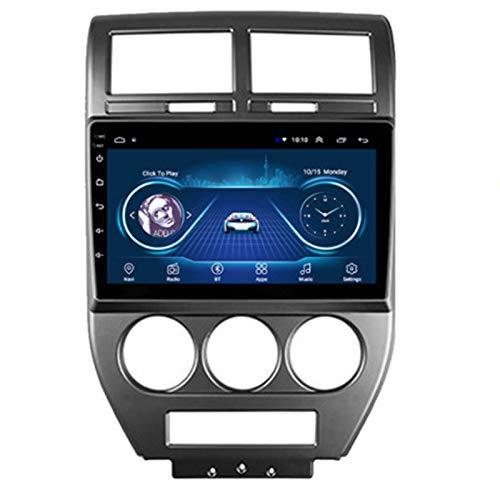 9 Pulgadas Android 10.0 Radio Stereo Coche 2.5D HD Pantalla Táctil Navegación GPS Ser Aplicable Jeep COMPASS (2006-2010) Apoyo Cámara De Visión Trasera/WIFI/Mirror Link/FM AM/Apoyo Mandos/USB,2G+32G