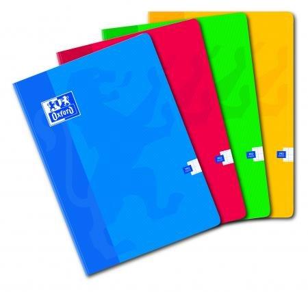 Cuaderno clásico de bolsillo A4 192p./96 hojas, 90 g/m2, Seyès, colores surtidos – Lote de 5