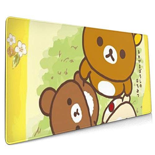 Rilakkuma Mouse Pad, Large Gaming 3D Textured Plastic Surface Mouse Pad with Non-Slip Rubber, Fast and Smooth Control for High Dpi Game, Compatible with All Dpi Mice for Both Work & Gaming