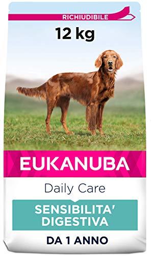 EUKANUBA Daily Care Alimento Secco per Cani Adulti con difficoltà Digestive - 12000 g