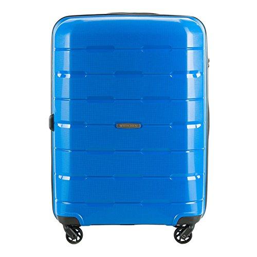 WITTCHEN Trolley, Valise, étui de Transport, Taille Moyenne | Couleur: Bleu | Matériel: Polypropylène | Dimensions: 68 x 46 x 26 cm | Poids: 3.6 kg 61 L | Collection: Speedster | 56-3T-722-95