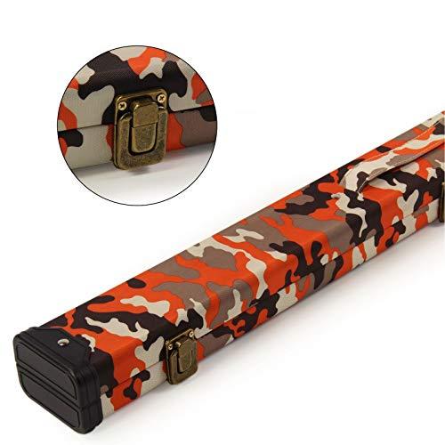 Funky Chalk Deluxe ¾ Joint Snooker Cue Case Orange Camouflage 120cm, Funky Gesso Tomahawk ABS per Stecca da Biliardo, 120 cm, Colore: Arancione Unisex-Adulto