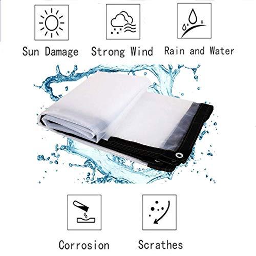 XYXH Lona De PVC Transparente, Lona Transparente Gruesa De Múltiples Funciones, Duradera, para Construcción Muebles, Jardín, Piscina Suelo Camping
