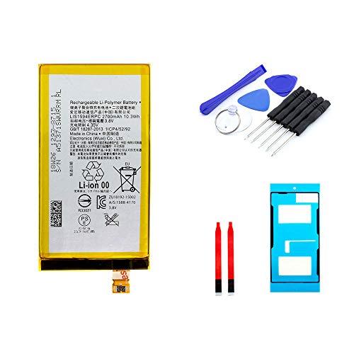 kaputt.de AKKU Set Batterie für Sony Xperia Z5 Compact | 2700 mAh | 3,8 V | LIS1594ERPC | Reparaturset