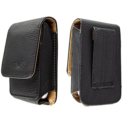 caseroxx Ledertasche mit Gürtelschlaufe für Olympia, Tasche (Ledertasche mit Gürtelschlaufe in schwarz)