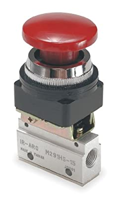 Manual Air Control Valve, 3-Way, 1/8in NPT by ARO