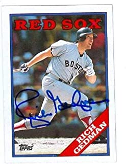 Rich Gedman autographed Baseball Card (Boston Red Sox) 1988 Topps #245 - Autographed Baseball Cards