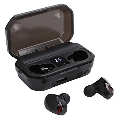 Auriculares inalámbricos, Auriculares intrauditivos Bluetooth 5.0 Auriculares biauriculares Bluetooth inalámbricos verdaderos con pantalla digital, Auriculares Bluetooth con control táctil mini, negro