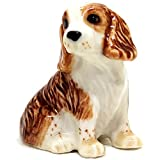 SSJSHOP American Cocker Spaniel Dollhouse Miniature Figurines Hand Painted Ceramic Animals Collectible Dog Lover Gift Home Decor, Sit