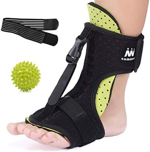 COMNESS 2020 Plantar Fasciitis Night Splint Adjustable Foot Brace Ankle Heel Foot Drop Support product image