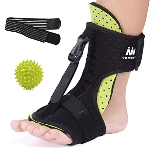 COMNESS 2020 Plantar Fasciitis Night Splint, Adjustable Foot Brace, Ankle, Heel, Achilles Tendonitis, Foot Drop Support, Arch Pain Relief for Women & Men