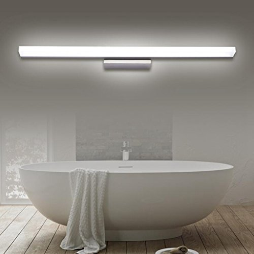 BiuTeFang 30W LED Lampada da Specchio per,Moderno Luci bagno,AC85-265V,IP44 Luci da specchio,WC Acciaio inossidabile Lampada da parete Luce bianca 140cm