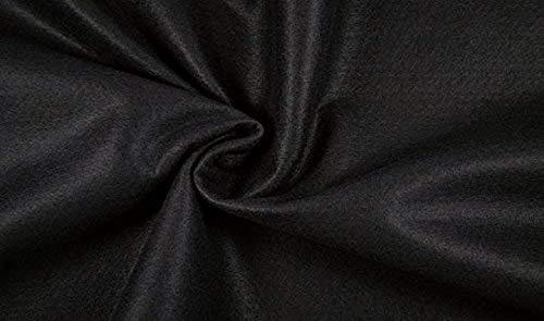 Fabrics-City Mestiere di Decorazione dei Vestiti 2Mm-180Cm del Tessuto della Feltro Nero, 2495
