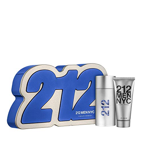 CAROLINA HERRERA 212 MAN EDT SPRAY 100ML + DOUCHEGEL 100ML