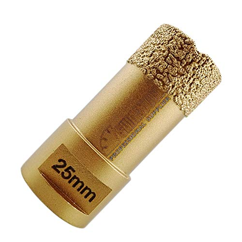 SHDIATOOL Diamond Drill Core Bit Diameter 25mm for Porcelain Tile Granite Marble Dry Drilling