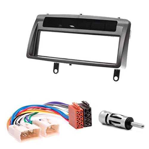 11-037-22-6 Kit d'installation autoradio façade d'autoradio avec Compartiment de Rangement DVD Dash DIN pour Corolla Fascia avec Adaptateur ISO Adaptateur d'antenne