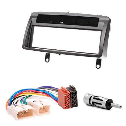 CARAV 11-037-22-6 Radioblende Car 1-DIN in Dash Installation kit Set for Corolla 2001-2006 with Pocket + ISO and Antenna Adapter Cable