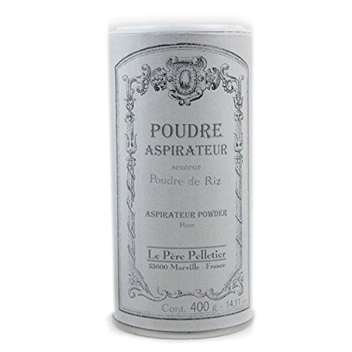 Le père pelletier LPP : Poudre Parfumée d'Aspirateur 400 grs - Parfum d'Ambiance pour Maison Intérieur (Poudre de Riz)
