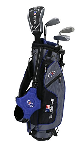 U.S Kids Golf UL45 4-Club WT-25u Set da golf con borsa (altezza 114,3cm), Bambino, Grey Blue
