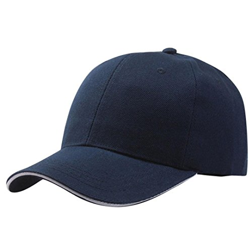 Cappellini con Visiera da Baseball Hip-Hop Unisex, DoraMe appelli Estivi Ricamati Cappello Maglia per Uomini Donne Casual (Blu)