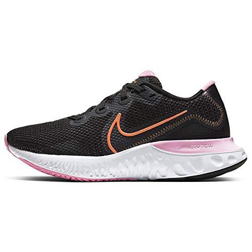 Nike Womens Renew Run Chunky Workout Walking Shoes Black 7.5 Medium (B,M)