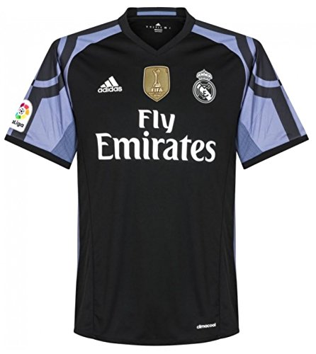 adidas Trikot Real Madrid 2016-2017 Third WC Badge (Black/Blue, XXL)