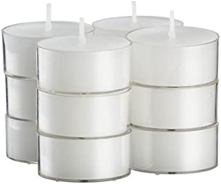 Stock Your Home White Tea Light Unscented Candles Burn 4.5 Hour Set of 50 in Clear Cups