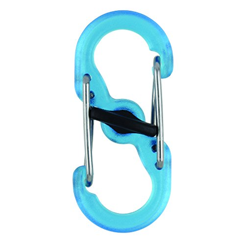 Nite Ize S-Biner MicroLock Polycarbonate 2-Pack Translucent Blue Locking Biners