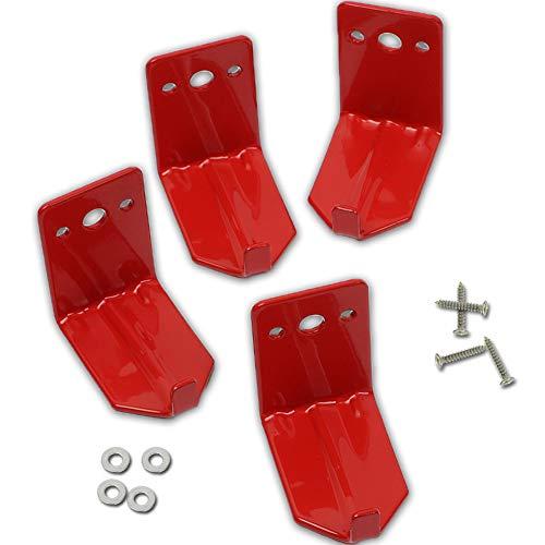 Paquete de 4 soportes para extintor de incendios, gancho de pared, soporte para extintores de hasta 40 libras, apto para extintores grandes y pequeños, soporte para extintores químicos secos y de agua