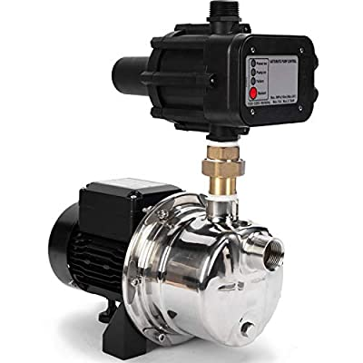 BACOENG Auto ON/OFF Stainless Steel Pressure Booster Pump w/ Smart Controller for Tankless Water Supply Pressurization