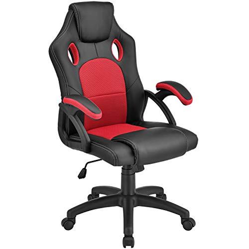 ArtLife Racing Schreibtischstuhl Montreal ergonomisch höhenverstellbar & gepolstert 120 kg belastbar Bürostuhl Drehstuhl PC Gaming Stuhl – rot