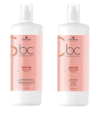 Schwarzkopf Bonacure Peptide Repair Rescue Micellar Shampoo 1000ml and Conditioner 1000ml