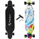 Skateboard Longboard completo – 41 pollici Longboard per ibrido, freestyle, carving, crociera e discesa con T-Tool tutto in uno per principianti