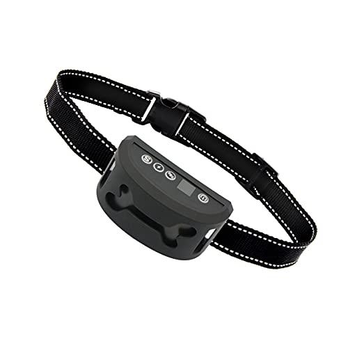wuxafe Collares Antiladridos para Perros, Collar Antiladridos, Collar De Entrenamiento para Perros con Sonido/Vibración/Descarga Eléctrica Y Sonido, Impermeable Y Recargable