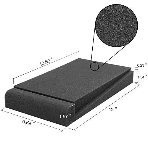 Almohadillas de aislamiento para monitor de estudio Altavoces de 5 '' de espuma de alta densidad 30.5 x 17.5 x 4 cm