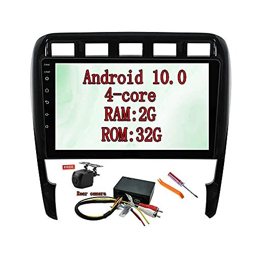 XISEDO Android 10.0 Autoradio 9 Zoll Car Radio Autonavigation RAM 2G ROM 32G Car Stereo mit 1024 * 600 Touchscreen für Porsche Cayenne (2003-2010) (mit Glasfaserdecoder)