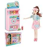 Lihgfw Getränkeautomat, Getränkeautomat, Spielzeug, Süßigkeiten-Automaten, Kinder Mädchen Simulation, Self-Service-Münz-Musik, Spielhaus, Kinderspielzeug