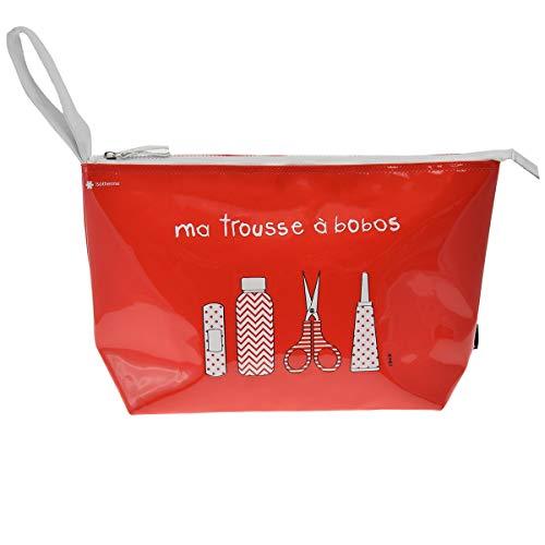 Incidence Paris 62239 Trousse à pharmacie isotherme Ma trousse à bobos Grand modèle Rouge Vinyle Fermeture zip Anse de transport H23 x 10 x 37 cm