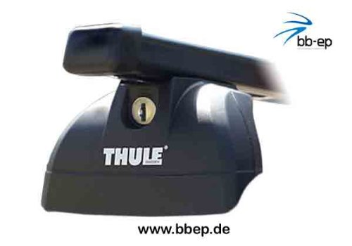 Thule Stahldachträger 90433632 Komplett System inkl. Schloss für FIAT Panda mit integrierter Dachreling - inkl. 1 l Kroon Oil ScreenWash