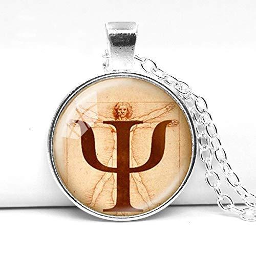 Modische klassische Symbol-Halskette, Psychologie-Anhänger, Schmuck, Psychologie-Geschenk, Leonardo da Vinci, Foto, Anatomie