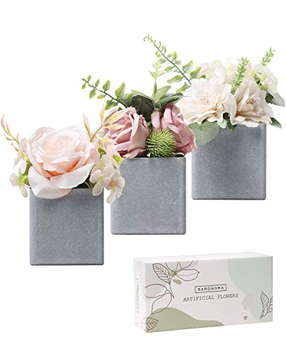 SAROSORA Artificial Potted Flower Plants with Plastic Vase Planter for Home Decor Wedding Decor Rose & Peony Arrangement… - ✿ A perfect gift for your loved one for any occasions including: Birthdays, Holidays, Mother's Day, Bridal Showers, Thank you gifts, or even just to accent and elevate your home or office. ✿ Material: Flowers: silk and plastic, fade resistant and odorless. ✿ Flowers and leaves are made of silk and plastic , the vase is are made of high-quality & eco-friendly plastic for easy care, and won't give off unpleasant odors. They're also the perfect option for those allergic to flowers. - vases, kitchen-dining-room-decor, kitchen-dining-room - 41m01HfLdGL -