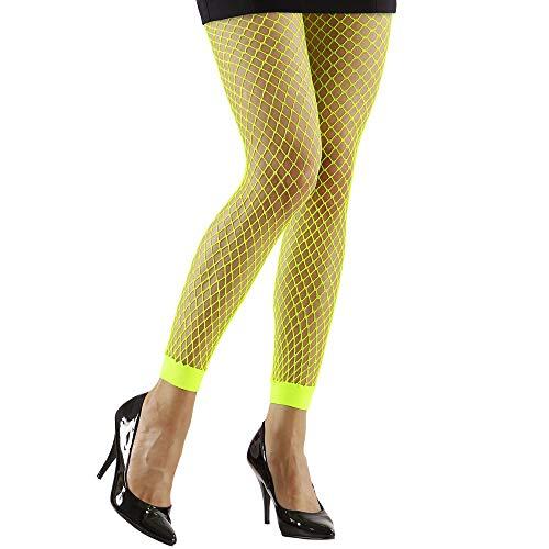 Medias de rejilla hasta el tobillo amarillo fluor