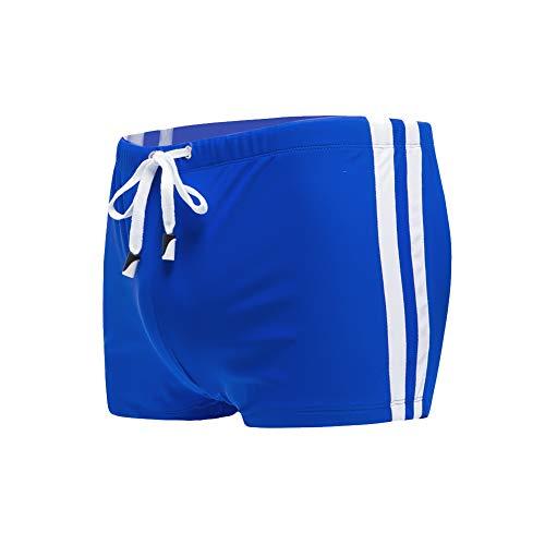 Meerway Tronchi di Nuoto Slip Uomo Costume da Bagno Boxer Mare Uomo Sexy con Coulisse Regolabile Blu