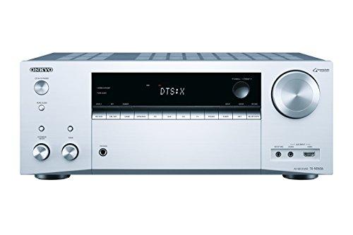 Onkyo TX-NR656 (S) 7.2-Kanal-A/V-Netzwerk-Receiver (160 W/Kanal,DTS: X aufrüstbar, Dolby Atmos, AirPlay, 384 kHz/32-Bit D/A-Wandler, 8 HDMI-Eingänge/2 Ausgänge) silber