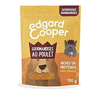 Edgard & Cooper Friandises Recompense Chien Sans Cereales Nourriture Naturelle moelleuses gourmandises au poulet pomme-myrtille 150g