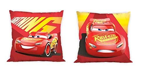 Funda de cojín infantil con diseño de Cars de Disney Pixar, sin relleno, 40 x 40 cm, algodón, Cars 03, 40 x 40 cm