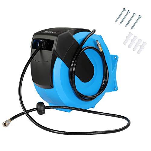 Deuba Druckluftschlauch Aufroller automatisch 30m 1/4' Anschluss Schlauchtrommel Abroller Schlauchaufroller